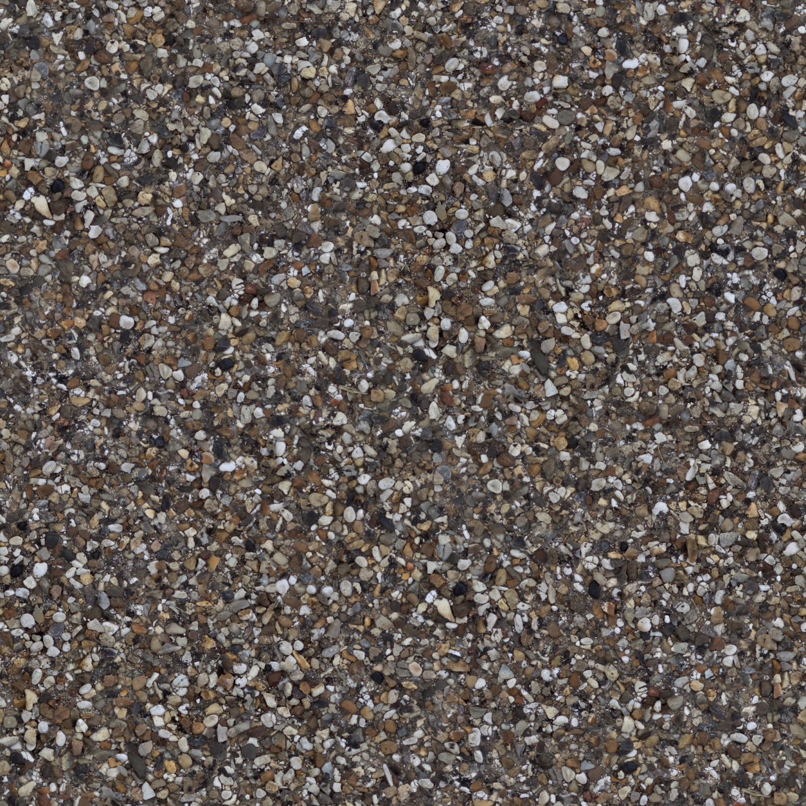 Pebblestone cobble ground gravel floor walkway seamless texture 2048x2048