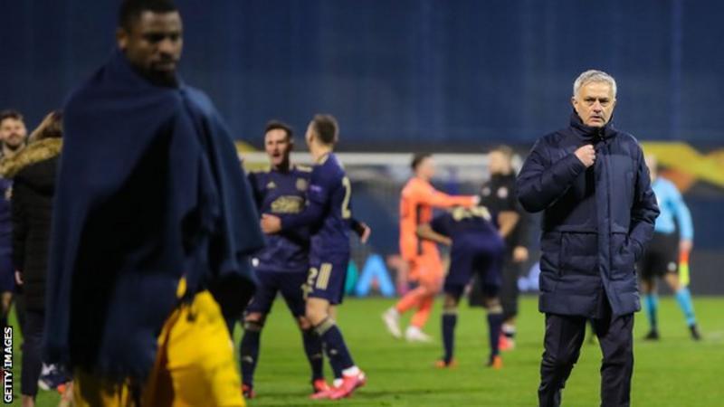 Mourinho apologies to Tottenham fans after Europa League defeat