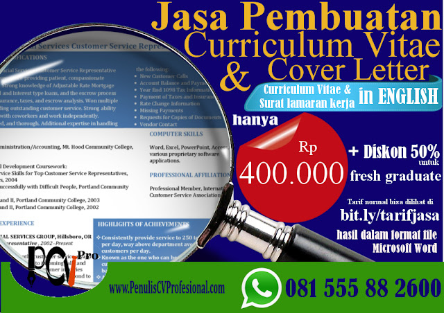 Jasa Pembuatan Curriculum Vitae & Cover Letter