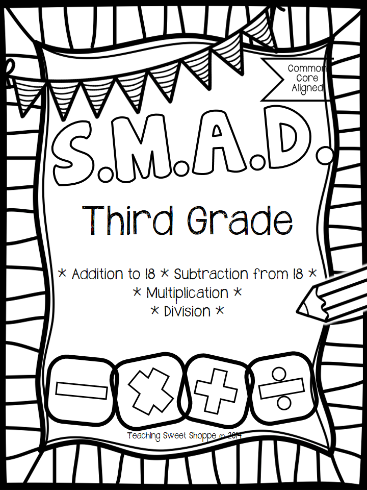 The Teaching Sweet Shoppe!: SMAD Math Fact Fluency For