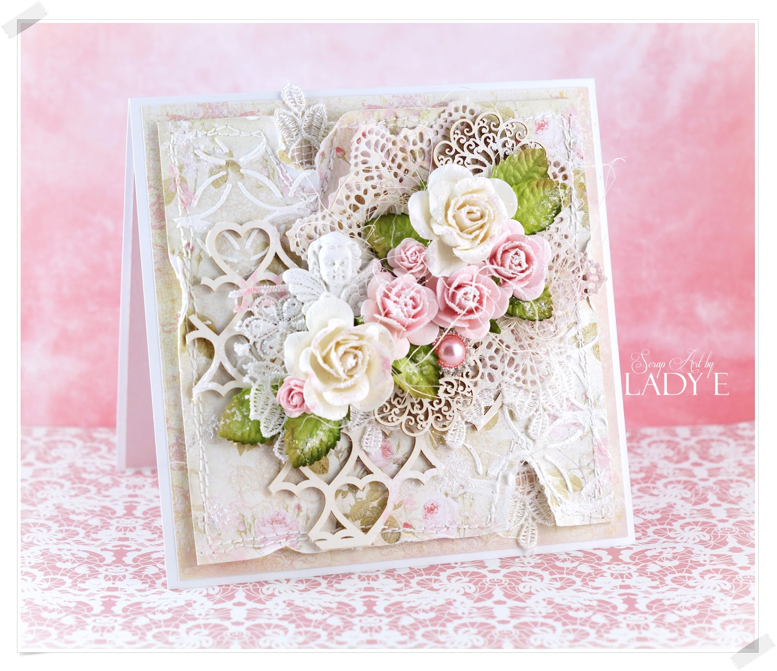 Wild Orchid Crafts: Romantic Shabby Chic Card & Video Tutorial