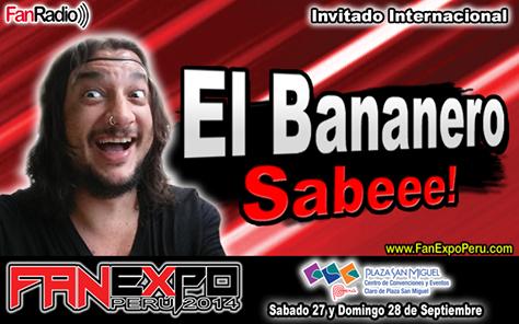 sensei otaku  El Bananero en el Fan Expo Peru 2014 a577b78f0691