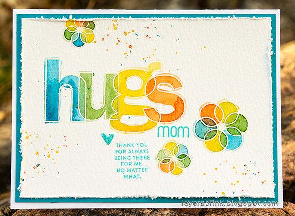 Layers of ink - Hugs Watercolor Card Tutorial by Anna-Karin Evaldsson.