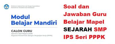 Soal dan Jawaban Mapel Sejarah SMP IPS