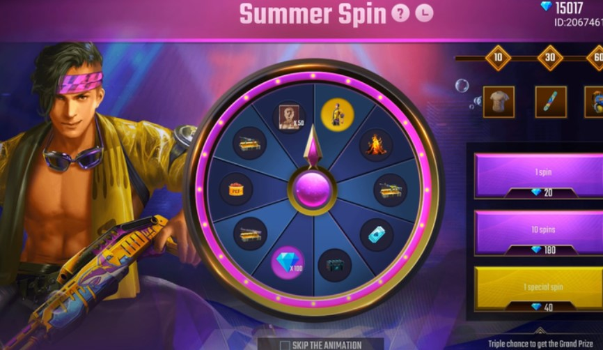 Summer Spin Free Fire