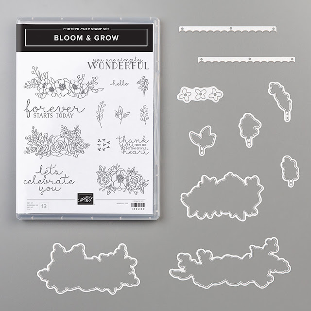 Bloom and Grow stamp set and Dies from Stampin Up