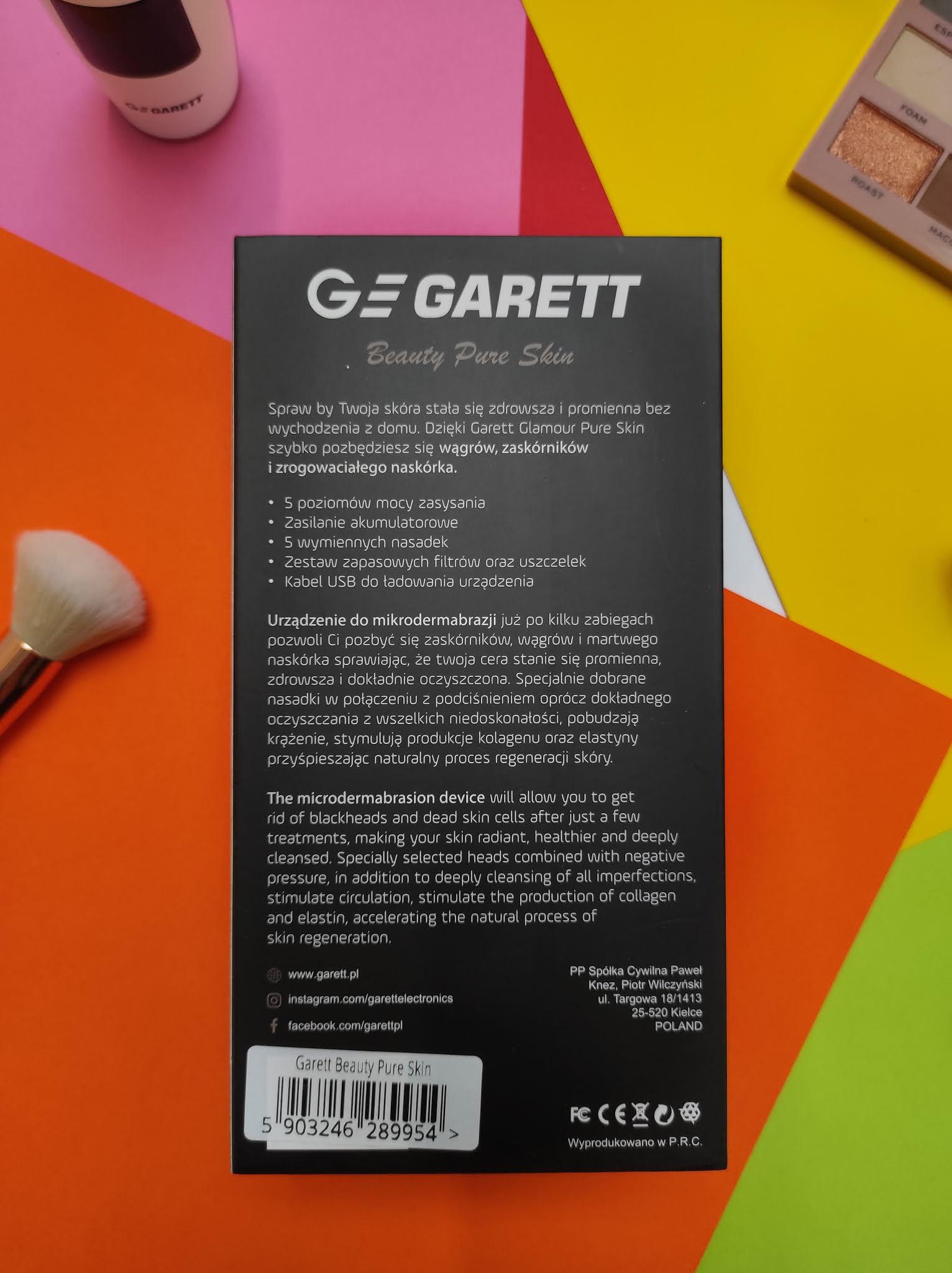 Urządzenie do mikrodermabrazji Beauty Pure Skin Garett