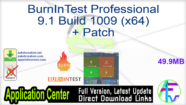 BurnInTest Professional 9.1 Build 1009 (x64) + Patch
