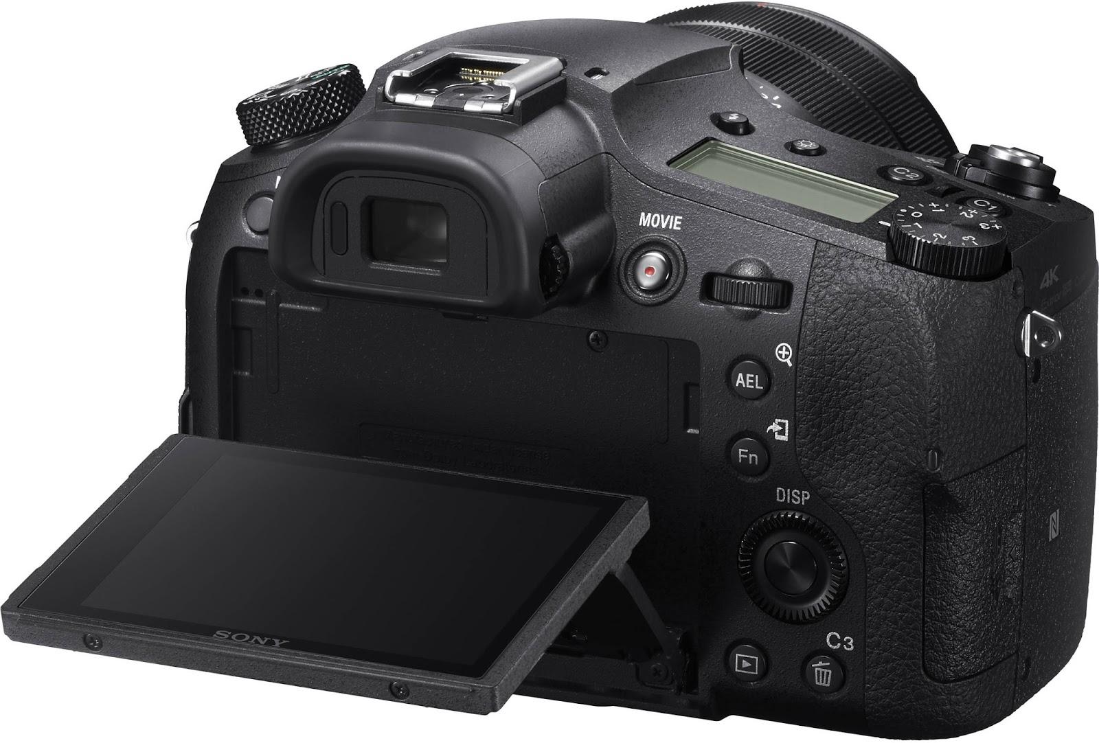 Sony RX10 IV, вид сзади