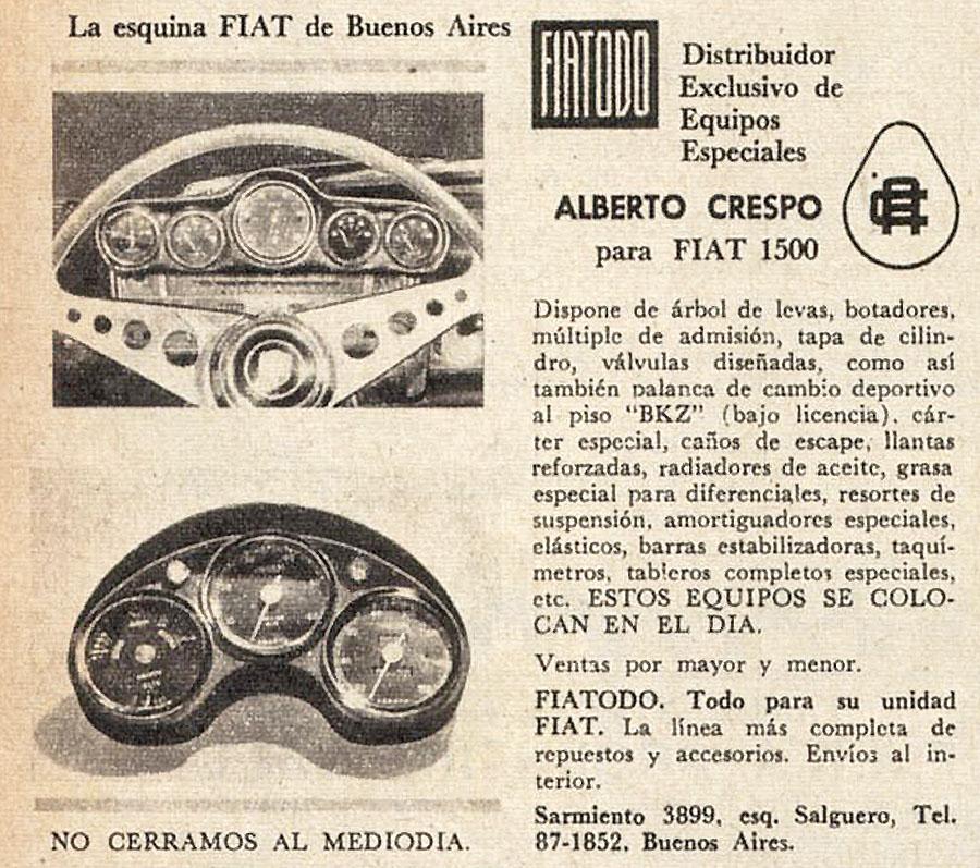 Archivo de autos: Tablero para el Fiat 1500