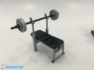 Miniature Toy Gym Barbell Chair