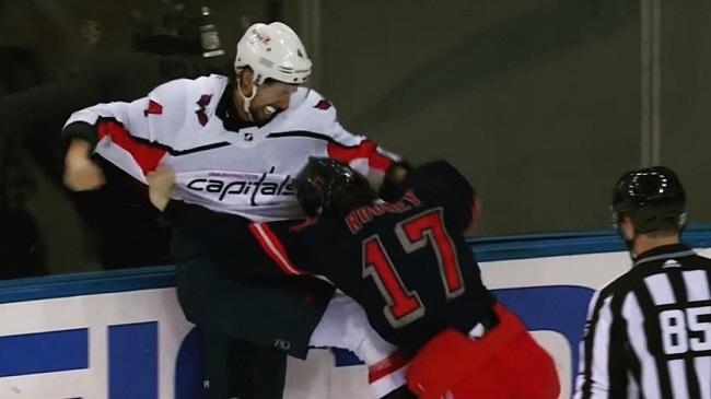 Rangers Capitals NHL Fight
