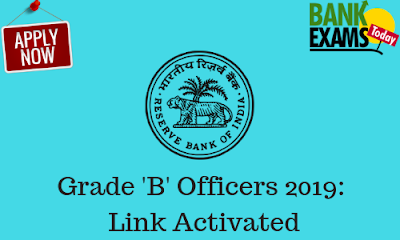 RBI Grade 'B' Officers 2019: Link Activated