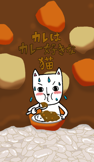The cat that he likes curry
