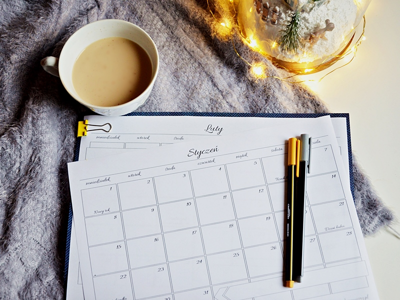 kalendarz printable, kalendarz free, planer free, planner 2018 free, calendar free, kalendarz do pobrania