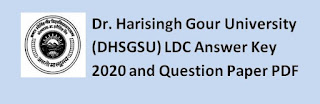 Dr. Harisingh Gour University (DHSGSU) LDC Answer Key 2020 and Question Paper PDF