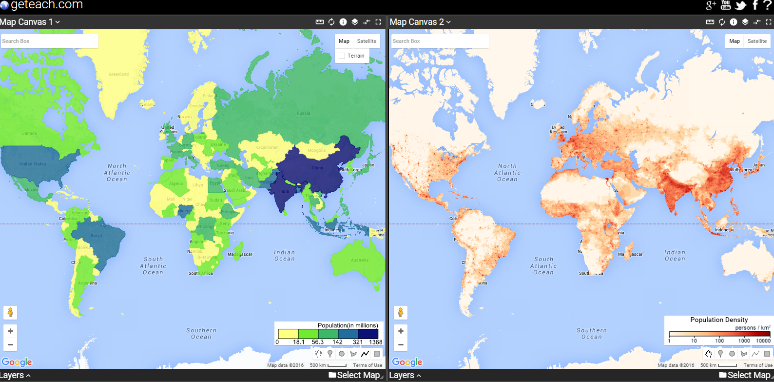 Free Technology for Teachers: Students Can Compare Maps Side-by-Side