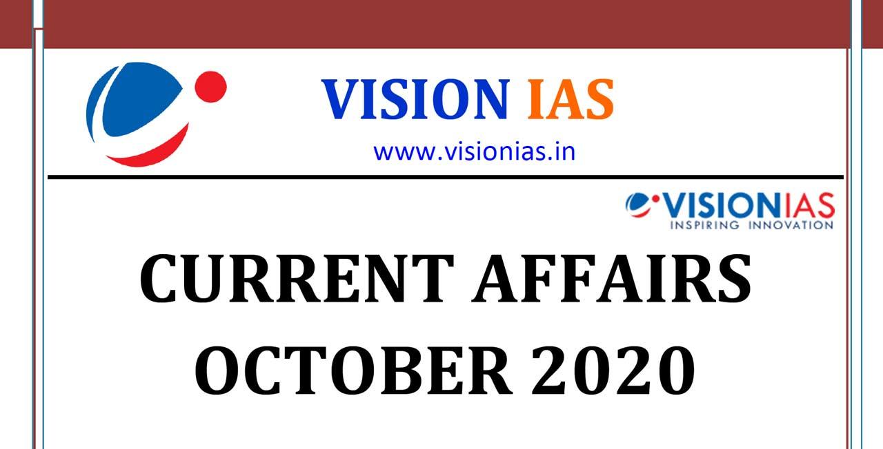 Vision IAS Current Affairs October 2020 pdf