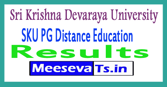 Sri Krishna Devaraya University SKU PG Distance Education Results 2017