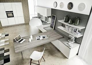 modelo cocina moderna blanca