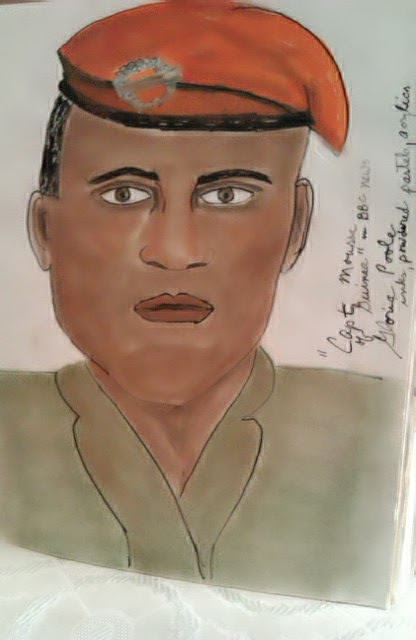 """Capt Moussa"" ethnic series sketch by Gloria Poole"