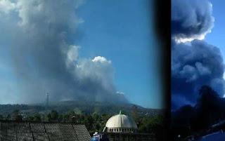 Viral Viideo Detik-detik Gunung Tangkuban Parahu Meletus