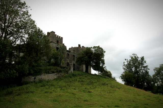 Raphoe Castle on the hill