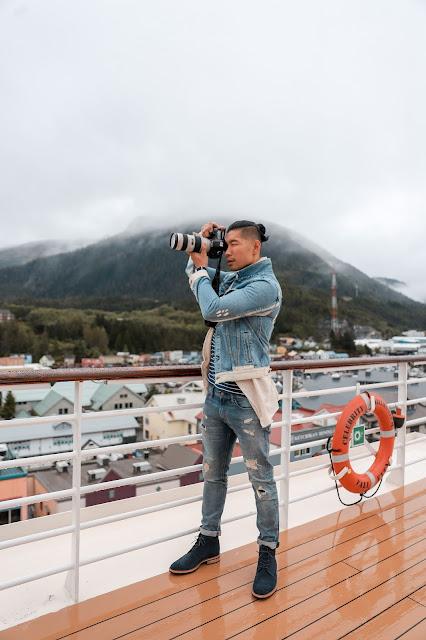 Leo Chan wearing ECCO Vitrus in Ketchikan, Alaska