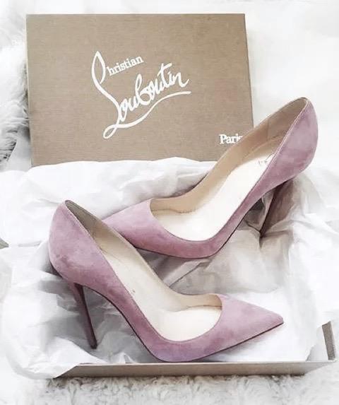 christian louboutin + pink + heels