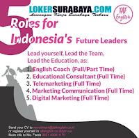 Open Recruitment at TAF English Surabaya October 2019
