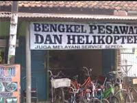 Bengkel Pesawat, Helikopter dan sepeda
