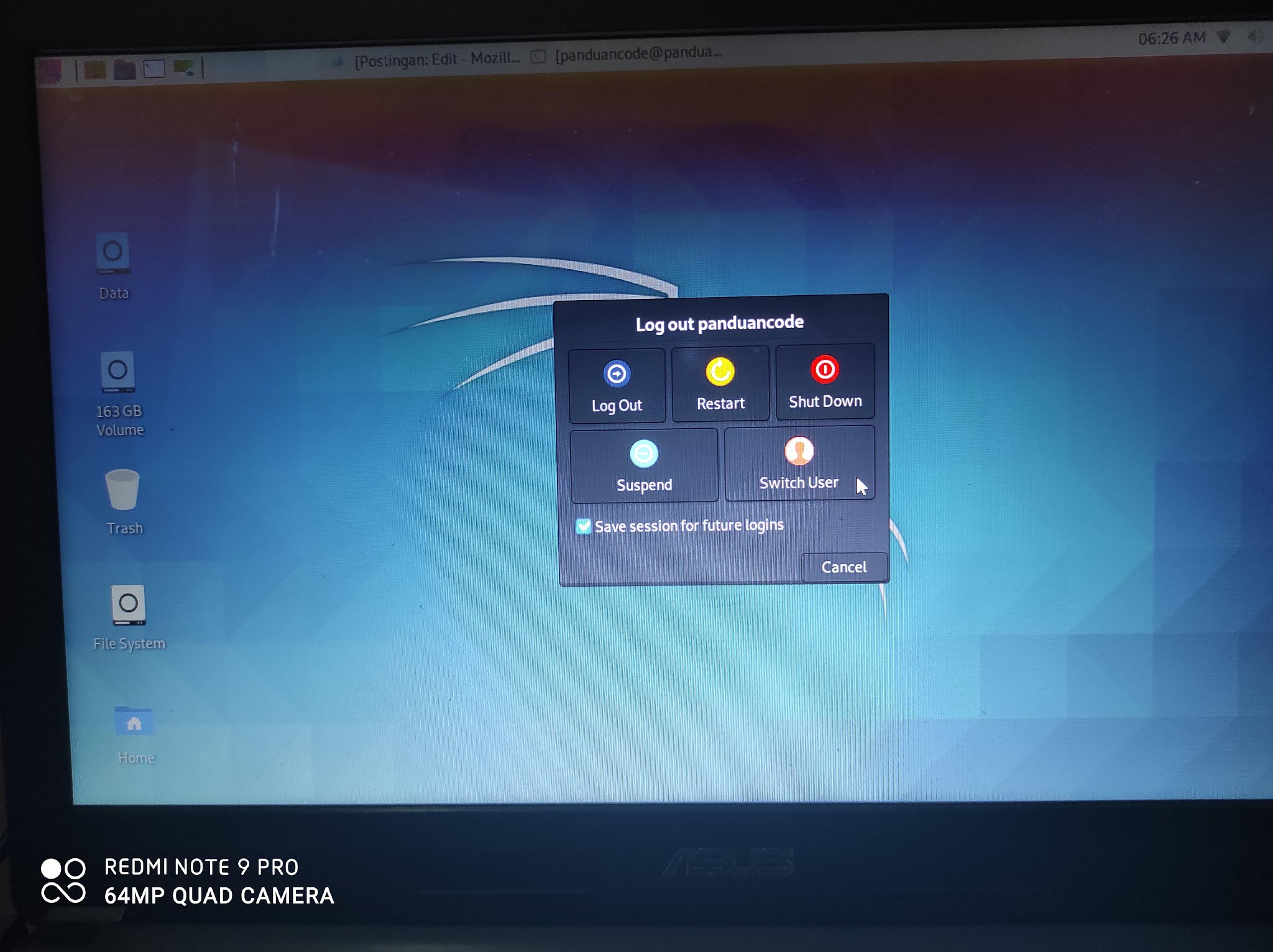 Cara Switch User Root Kali Linux Terbaru