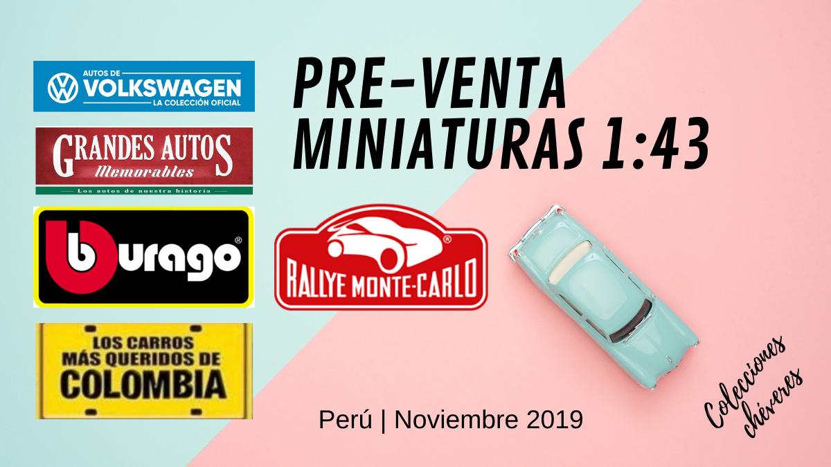 Pre-venta miniaturas 1/43 en Perú