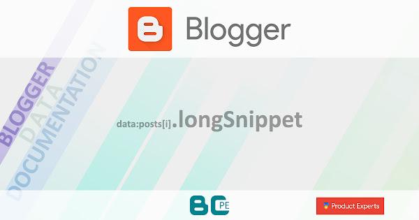 Blogger - Gadget Blog - data:posts[i].longSnippet