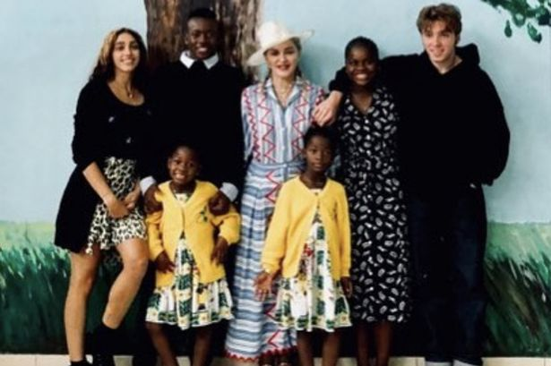 Image: Madonna shares rare photo with all six of her kids to celebrate a special anniversary