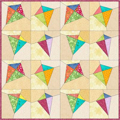 kites quilt block pattern quilt