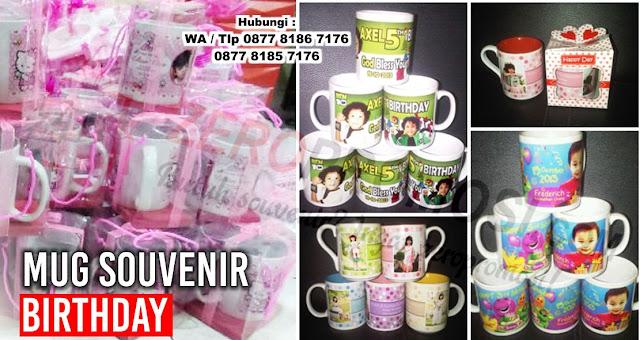 Souvenir Mug Birthday, Mug Gift Spesial, Mug sablon