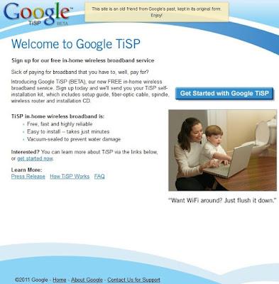 Poisson d'avril de Google en 2007 : Google TiSP