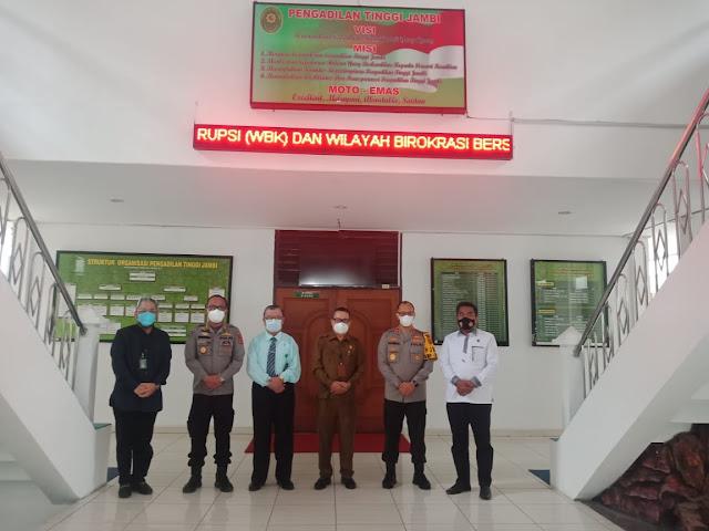 Kapolda Jambi Silaturahmi Bersama Kepala Pengadilan Tinggi (PT) Jambi