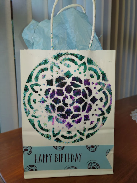 Stampin' Up Pigment Sprinkles Gift Bag Perennial Birthday