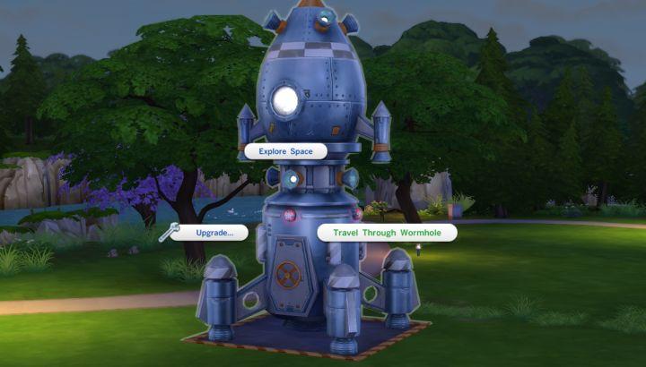 The Sims 4 Get to work ไปอวกาศ Sixam จรวดอวกาศ