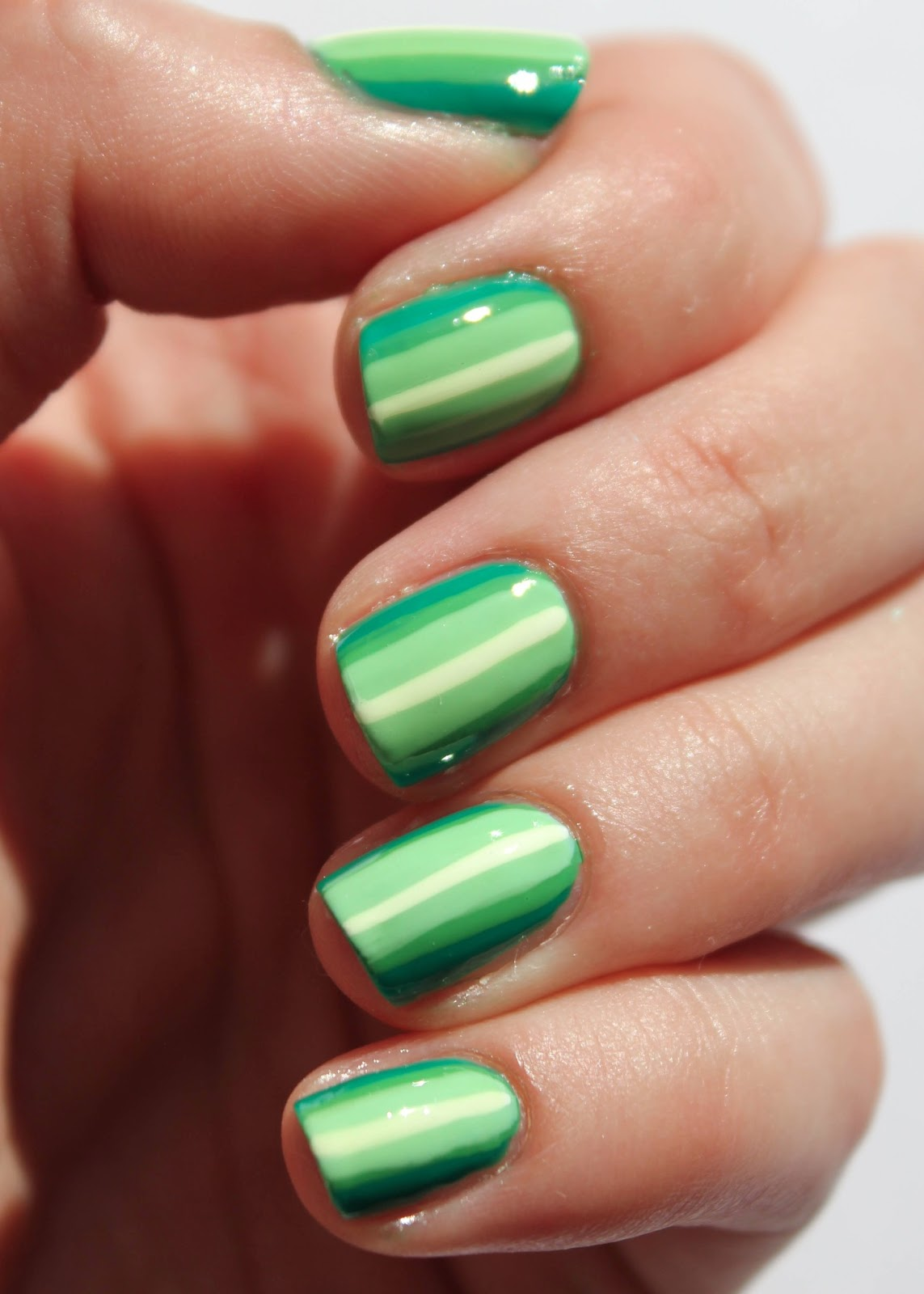Fundamentally Flawless Essie Week Green Ombre Stripes Nail Art With Essie Mojito Madness And
