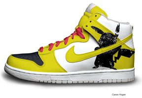 the latest 1e859 f046e Nike SB Dunk Cartoon Shoes : Pokemon Nike High Top Pikachu ...