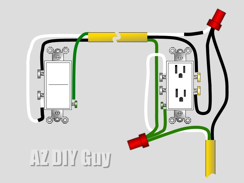 Colorful How To Wire Outlet And Switch In Same Box Sketch ...