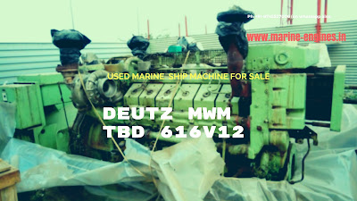 MWM, Deutz, TBD 616V12, Marine, Ship machine, used, Recondition, diesel generator, for sale, supplier, seller, Pre Owned, Genuine, OEM, removed, ship yard, dismatle, recycling, second hand, 656 KVA, RPM 1500