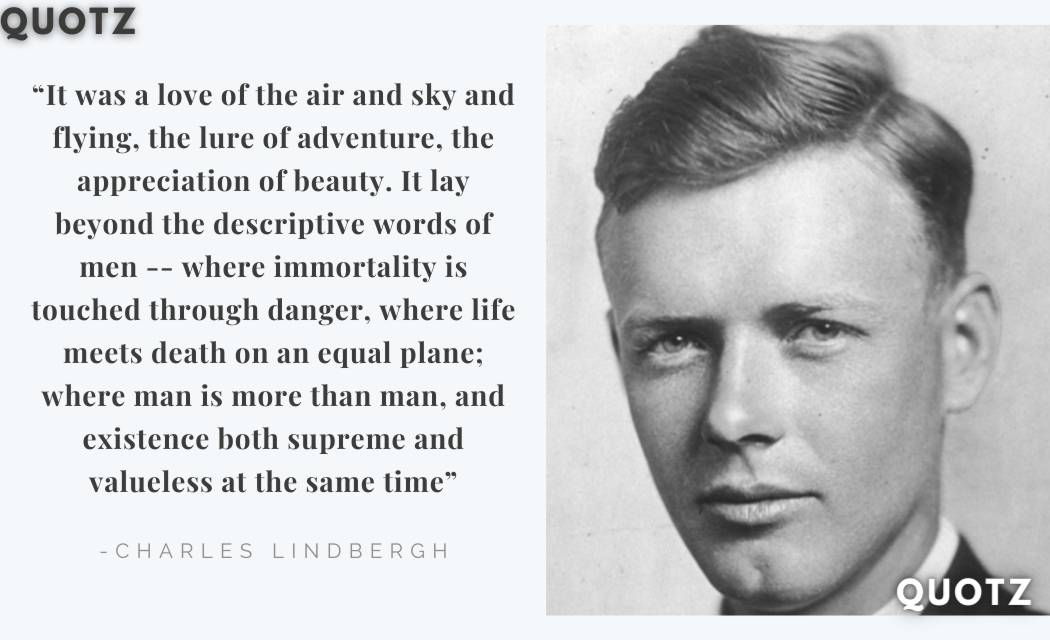 CHARLES LINDBERGH quotes about Flying, Life, Famous, Risks, and more with quotes images.