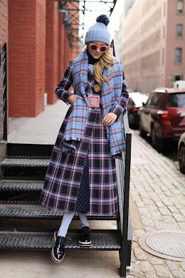 Look de inverno com vestido