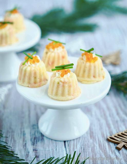 apéritif , apéro , mini cake , polenta , saumon fumé , recette festive , sans gluten , gluten free