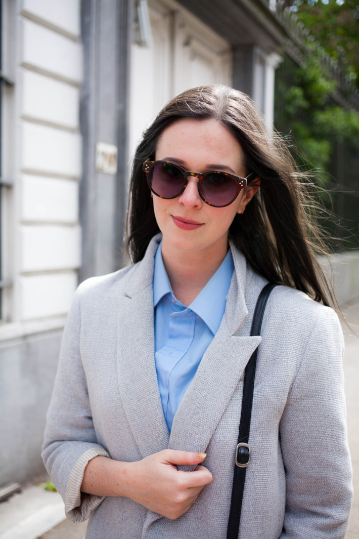 Outfit: preppy in oversized blazer
