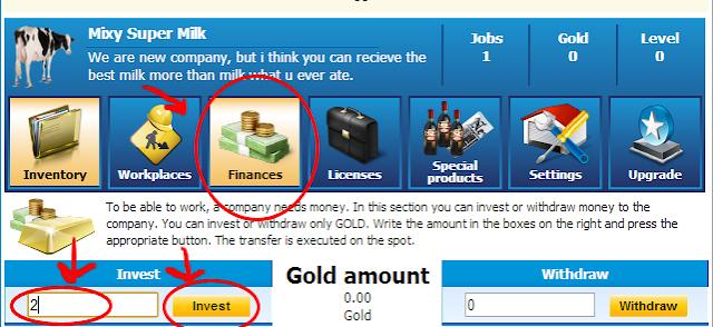 ภาพที่ 6 : การเปลี่ยน gold เงิน thb เพื่อเป็นทุนบริษัท